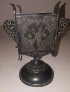 James Tufts Playing Cards Holder Silverplate