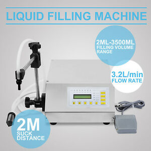 Automatic Digital Liquid Filling Filler Machine Microcomputer Control 2 3500ml