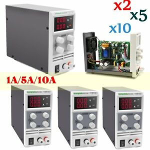 Lot 1a 5a 10a 30v Dc Power Supply Adjustable Digital Lab Variable Precision Fsas