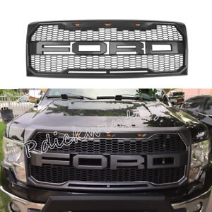 2009 2010 2011 2014 Ford F 150 Front Bumper Hood Grille Gray Sport W F