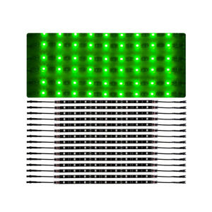 14pcs Green Car Truck Underglow Under Body Neon Accent Glow Led Lights 12 strip