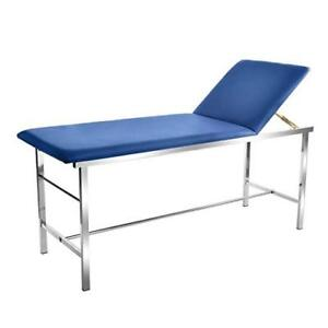 Adirmed Blue Foam Padded Adjustable Medical Exam Table W Paper Towel Holder