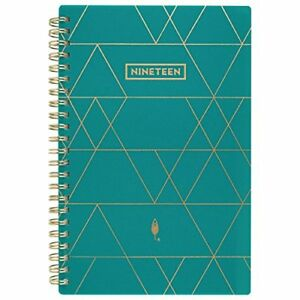 Inkwell Press 2019 Weekly Monthly Planner Livewell 5 X 8 Small Teal ip6