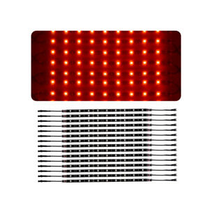 14pcs Red 12 Strip Car Truck Underglow Under Body Neon Accent Glow Led Lights