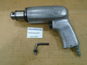 C475 Cp787 Chicago Pneumatic Air Drill 3 8 Jacobs Chuck W Key 1800 Rpm Usa