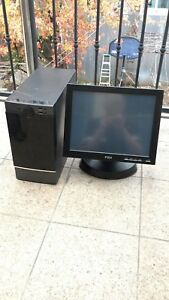 15 All In One Pos System Restaurant Point Of Sale Touchscreen 3 6 Ghz 500 Gb
