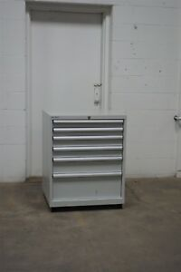Used Lista 6 Drawer Cabinet 36 High Industrial Tool Storage 1564 Vidmar
