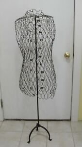 My Double Mesh Dress Form Moldable With 52 Cast Iron Stand Model B Steam Punk