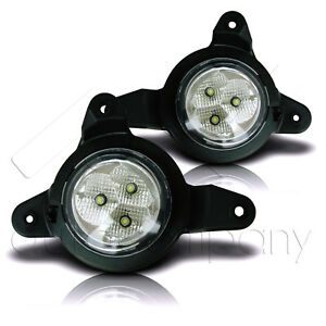 Fit 2017 2018 Toyota C hr Led Lamps Fog Lights W wiring Kit Clear