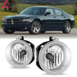 For Dodge Charger 06 09 Clear Lens Pair Bumper Fog Light Lamp Oe Replacement Dot