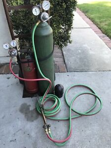 Oxy Acetylene Full Tanks Regulators And Firepower Wh ca 250 Cutting Torch Hose