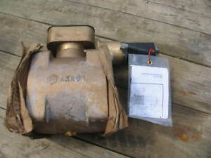 Akron Heavy Duty Swing Out Ball Valve 4 Electronic Actuator Complete Brass 7840