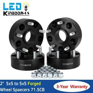 4pcs 2 6 Lug 6x5 5 Wheel Spacers Adapters For Chevy Silverado 1500 Suburban