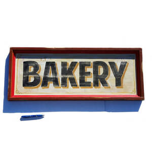 Bakery Sign Vintage Style Hand Painted