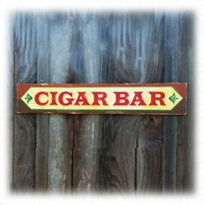 Cigar Bar Lounge Sign Vintage Style