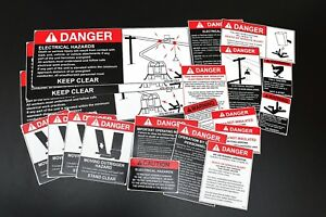 Bucket Crane Boom Truck Safety Decal Stickers Kit 20 Items
