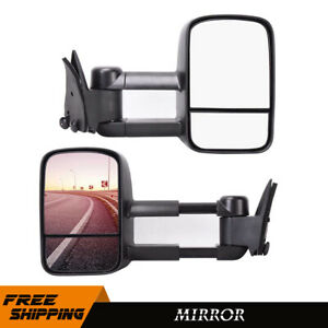 Left right Power Tow Mirrors For 1988 1998 Chevy gmc C10 C k 1500 Pickup Truck