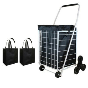 Stair Climber Trolley Dolly Grocery Foldable Cart For Home Condo Apartment