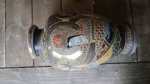 Authentic Meiji Period Japanese Royal Satsuma Vase 12 Gold Mark