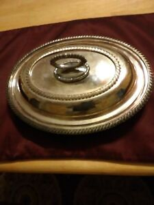 Old Sheffield Plate Serving Dish Reproduction Vintage Viners Ep In Copper