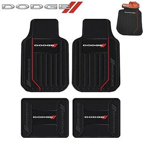4 Pc Dodge Elite Front Rear Rubber Floor Mats With Logo Fast Same Day Shipping