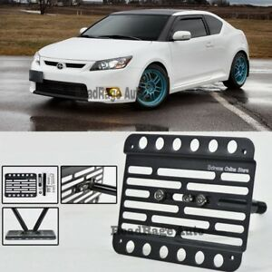 For 11 13 Scion Tc Front Tow Hook License Plate Mount Relocator Bracket