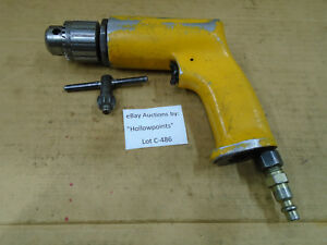 C486 Pneumatic Air Drill With 3 8 Jacobs 22ba Chuck Usa W Key Unbranded Tool