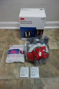 Genuine 3m Full Face Small Respirator 6700 Bonus Filters And Cleaning Kit