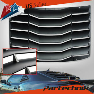 For 2016 2018 Chevy Camaro Coupe Matte Black Rear Window Louver Cover Vents