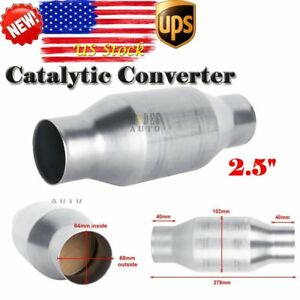 410250 2 5 Inch Universal High Flow Performance Stainless Catalytic Converter