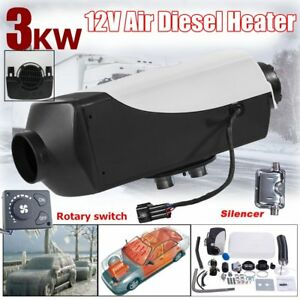 12v 3kw 3000w Diesel Air Heater Tank Vent Duct F Motor Boat Bus knob Switch My