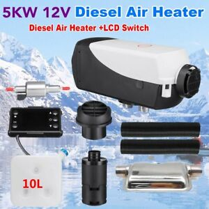 5000w 5kw 12v Air Diesel Heater 10l Tank For Truck Motor homes Bus lcd Switch My