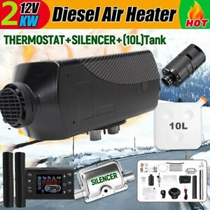2kw 12v Air Diesel Fuel Heater For Car Trucks Motor homes Bus Lcd Switch My