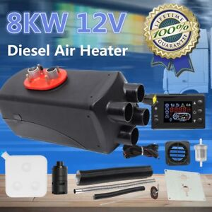 8kw 12v Auto Air Diesel Heater Lcd 4xholes For Car Bus Trucks Motor home Boat My
