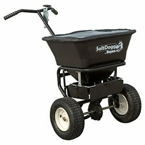 Saltdogg Wb101g Professional 100 Lb Capacity Walk Behind Broadcast Salt Spreader