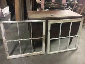 2 C1800 S Antique Six Pane Window Frames Salvaged From Antique Home 28 X 27 5