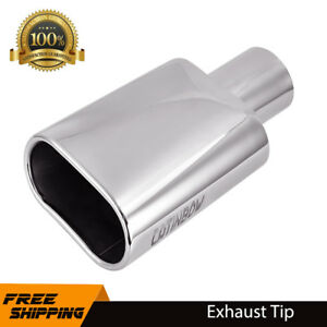 Stainless Steel Car Square Exhaust Tip Pipe 2 5 Inlet 5 5 X 3 Outlet 9 Long