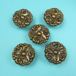 Five Vintage Knobs Drawer Pulls French Provincial Mid Century 1960s