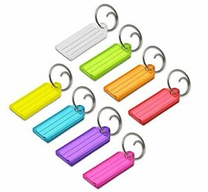 Lucky Line Key Tag With Tang Ring Assorted Colors 100 Per Box 12300 Taxfree