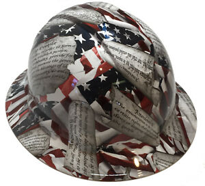 Hard Hat Full Brim Amendments American Flag W Free Brb Customs T shirt