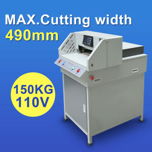 Heavy Duty 490mm 19 3 Automatic Paper Electric Cutter Cutting Machine New