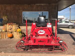 Used Allen Engineering Msp455 Power Steer 8 Riding Concrete Power Trowel