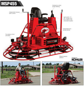 New 2018 Allen Engineering Msp455 Power Steer 8 Riding Concrete Power Trowel
