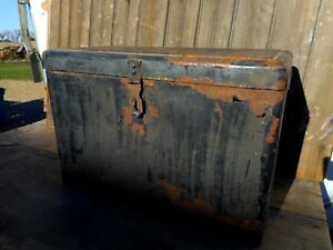 Black Antique Auto Touring Metal Car Trunk Packard Buick Ford Chevy Cadillac