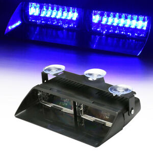 Car 16led Red Blue Dash Emergency Warning Flashing Police Strobe Flash Led Light