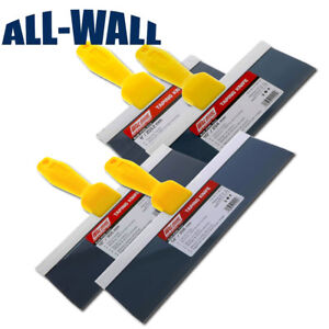 4 piece Wal board Drywall Wall Board Taping Knife Set Blue Steel 8 10 12 14