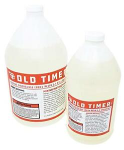 Old Timer Industries Fiberglass Epoxy Resin 1 5 Gal Kit Marine Grade Epoxy