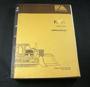 Fiat Allis Hd11 Crawler Tractor Dozer Part Manual Book Catalog List Fiatallis