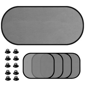 5 Pc Car Side Rear Window Screen Sun Shade Mesh Cover Windshield Visor Protector