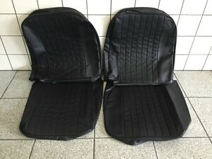 Seat Cover Set Mgb 73 80 Black Vinyl Made In The Uk